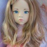 Лаура с голубыми глазами стекло, ооак