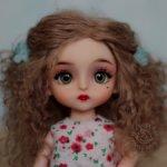 ООАК китайская шарнирная кукла с паричком