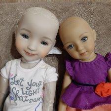 Как снимаю парики с кукол Я