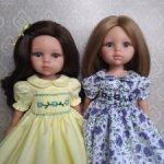 Платья с буфами для кукол Паола Рейна.