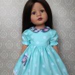 Платье для девочек Готц 36см мятное