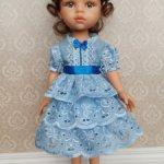 Комплект для кукол Паола Рейна голубой