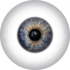 Глазки для кукол полусферы, 12 мм, радужка 6 мм. Цвета в ассортименте