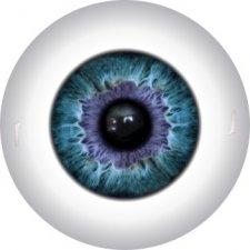 Глазки для кукол полусферы, 12 мм, радужка 7,2 мм. Цвета в ассортименте