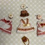 Три нарядных набора  одежды для кукол Лати  и им подобных.
