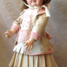 "Костюм для антикварной куклы из ""ужасной"" антикварной ткани"