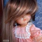 Шикарный парик для больших кукол