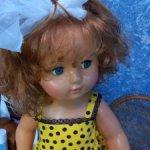 Огромная кукла СССР Марина флиртушка с изумительными волосами