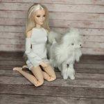 Белый пудель, собака для барби, интегрити