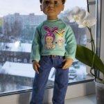 Джинсы и свитшет на кукол Готц и им подобных
