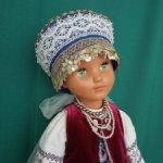 Русский костюм для винтажной днепропетровской куклы Настеньки-Натальи ростом 76 см.