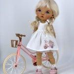 Дизайнерское платье для Meadow dolls Dumplings и велосипед