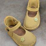Туфельки из натуральной кожи для кукол Готц 36 см (Лотта, Грета).