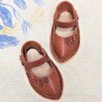 Туфельки из натуральной кожи для кукол Паола Рейна 34 см.
