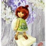 """Платье """"ПОДСНЕЖНИКИ"""" на Twinkles Meadow Dolls/IrrealDoll, Lati Yellow, Pukifee. (15-16 см)"""