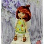 Платье «КУРОЧКИ» на Twinkles Meadow Dolls/IrrealDoll, Lati Yellow, Dress Pukifee. (15-16 см)