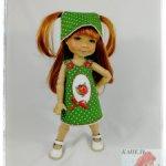 """Комплект """"БОЖЬЯ КОРОВКА"""" подходит для куклы Meadow Dolls 11 in (вареники 28 сантиметров)"""