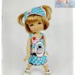 """Комплект """"ВЕСЁЛАЯ КОРОВКА"""" подходит для куклы Meadow Dolls 11 in (вареники 28 сантиметров)"""