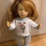 Очаровательный трикотажный костюмчик для маленьких кукол Цена на один день 250 рублей