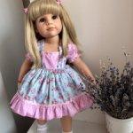 Продам очень красивое и качественное платье для девочек Готц и других схожими с ними размером