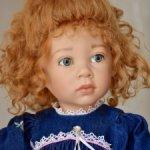 Джинсовое платье для кукол Elisabeth Lindner или схожими с ними размером