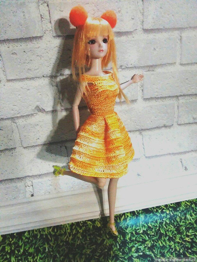 """платье для куклы""""звездочки"""",сама придумала"""