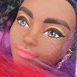 Темнокожая Barbie Extra 1 АА (радужная шубка)