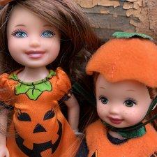 Куколки Челси и Келли. Mattel. Тыковки