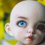 Глазки голубые для бжд