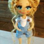 Продам двух авторских текстильных кукол