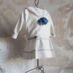 Платье-матроска для антикварной куклы