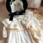 Платье и шляпка для антикварной куклы