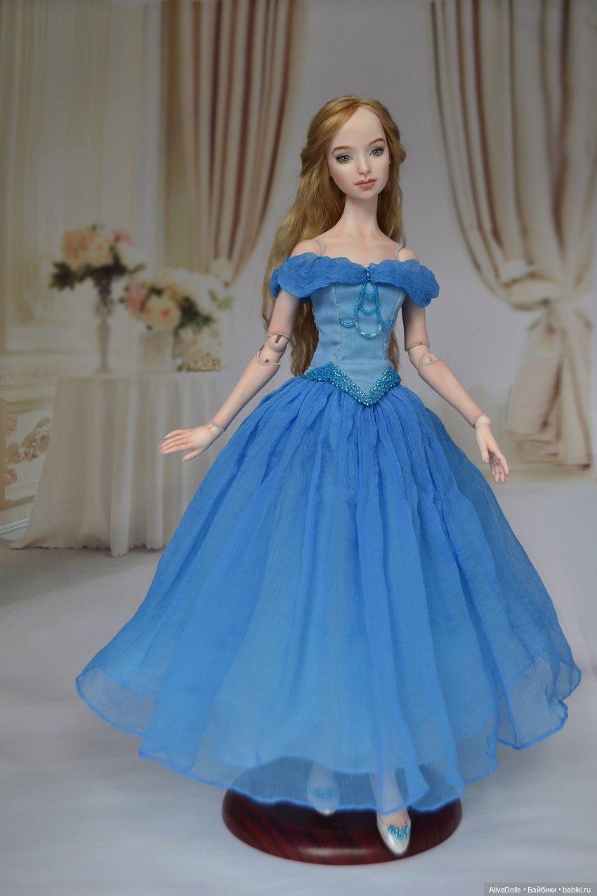 Золушка. Шарнирная кукла из фарфора