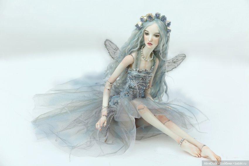 """Сильфида Грэй. Шарнирная кукла из фарфора. Участвовала в экспозиции на выставке Искусство куклы - Русские сезоны. Кукла в образе крылатой девы Сильфиды из одноименного балета М. Фокина """""""