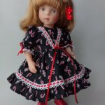Платье для Минуш и кукол Дианы Эффнер.