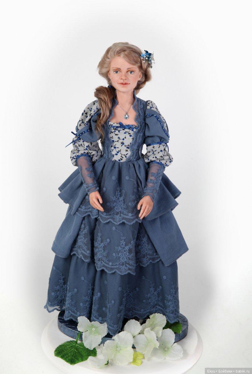 Первая подвижная кукла, из запекаемого пластика, рост 42 см. одежда снимается.