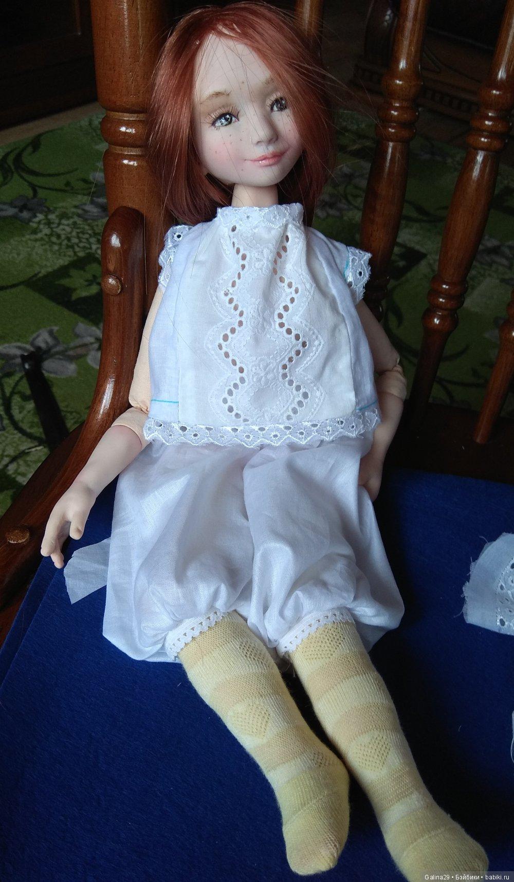 Куколка из полимерной глины livingdoll