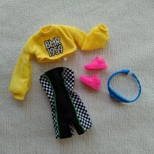 Полный аутфит Barbie BMR мулатки с косичками