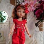 Красный комбинезон с вышивкой для Паола Рейна