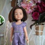 Фиолетовый комбинезон с вышивкой для Паола Рейна