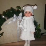 Зимний наряд для Paola Reina , Антонио Хуан, шубка шапка сапожки