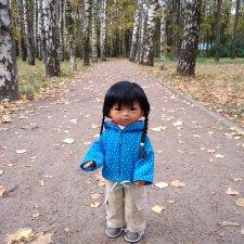 Камилла в осеннем парке