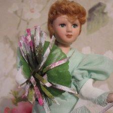Фарфоровая кукла-путешественница Марыня Плавицкая