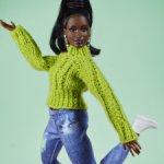 Свитера для кукол barbie (барби), вязаный свитер, зеленая коллекция
