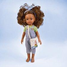 """Набор одежды """"Маяк"""" для кукол Paola Reina ( полосатый комбинезон, льняная сумочка, джемпер)"""