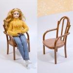 Венское деревянное кресло для кукол barbie, Paola Reina, Blythe, Fashion Royalty, Momoko