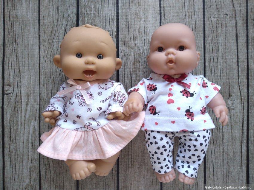Пупсы 26см платье пижама