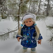 Моня (Мона Schildkrot) и зимняя прогулка