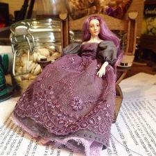 Авторская полностью подвижная каркасная кукла 1:12 - ню, без мейка (бланк).