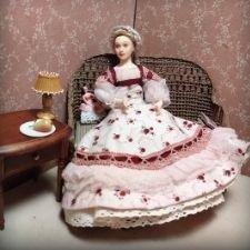 Черная Пятница! Сюзанна - авторская полностью подвижная кукла 1:12